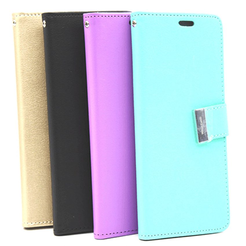 WiseCase-PU-Leather-Metallic-Latch-Flip-Case-with-Card-slots-Galaxy-S9