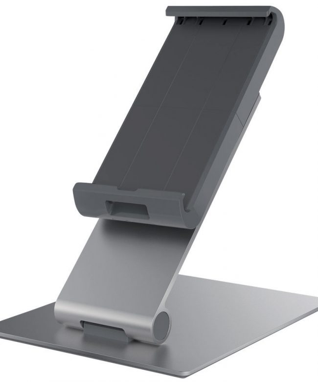 Durable-893023-Silver-Metal-Desktop-Tablet-Holder