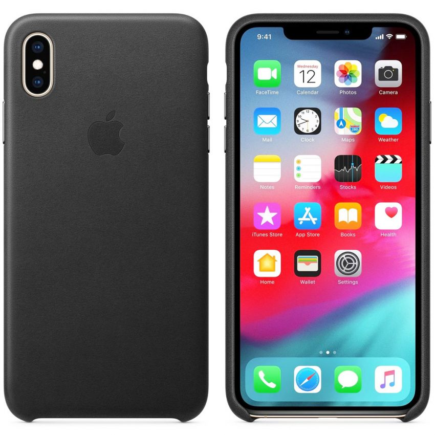 Apple-iPhone-XS-Max-Leather-Case---BLACK