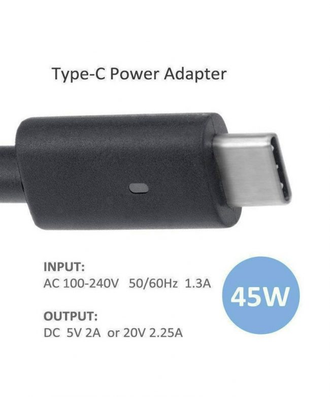 Replacement-Adapter-Charger-For-DELL-Laptops,-Type-C---45W.-pic-1