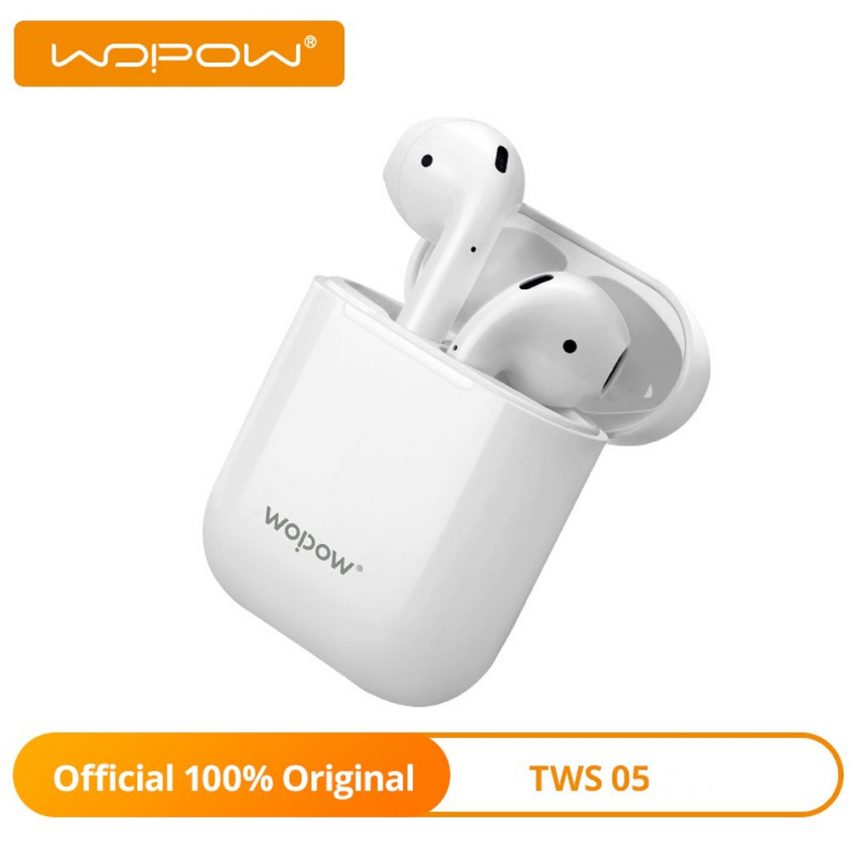 Wopow-Bluetooth-Earbuds-With-Charging-Case-and-Type-C-Charging---TWS05-(White)-