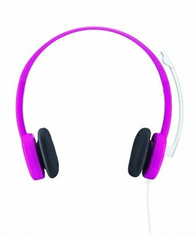Logitech-Headset-H150-3.5mm-Stereo-with-Boom-Mic----Fuchsia-Pink
